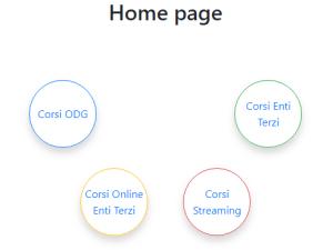 """Per prenotarsi ai nostri eventi dal SIGEF bisogna cliccare nel cerchio verde """"CORSI ENTI TERZI"""" e da lì fare ricerca per luogo"""