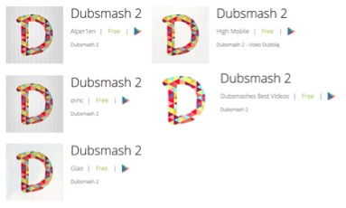 Figure 5 Other Dubsmash 2 variants
