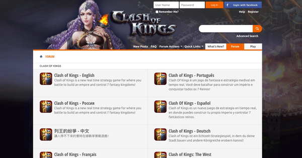 Research on Forums- Clash of Kings