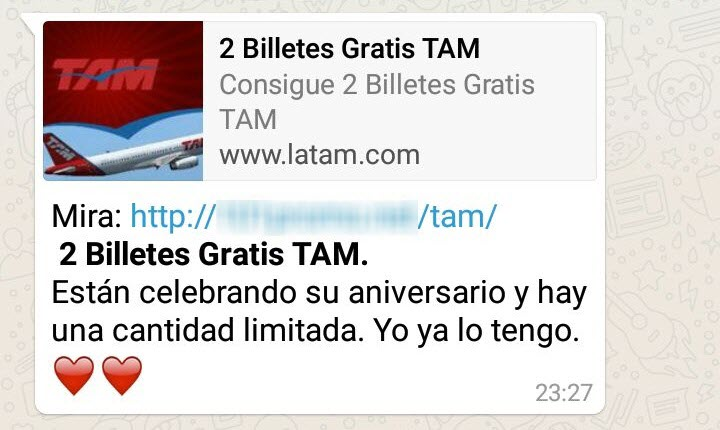 tam estafa whatsapp