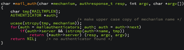 vulnerabilidad strcpy IMAP