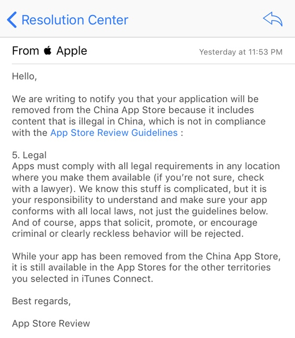 Apple email