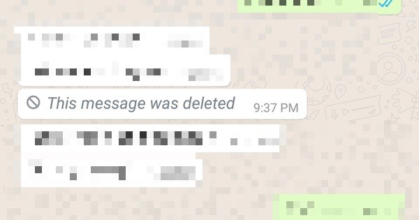 Image result for deleted messages on whatsapp