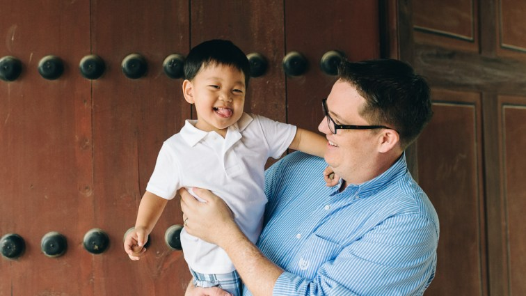 Seoul Photographer - Ezra and Dad