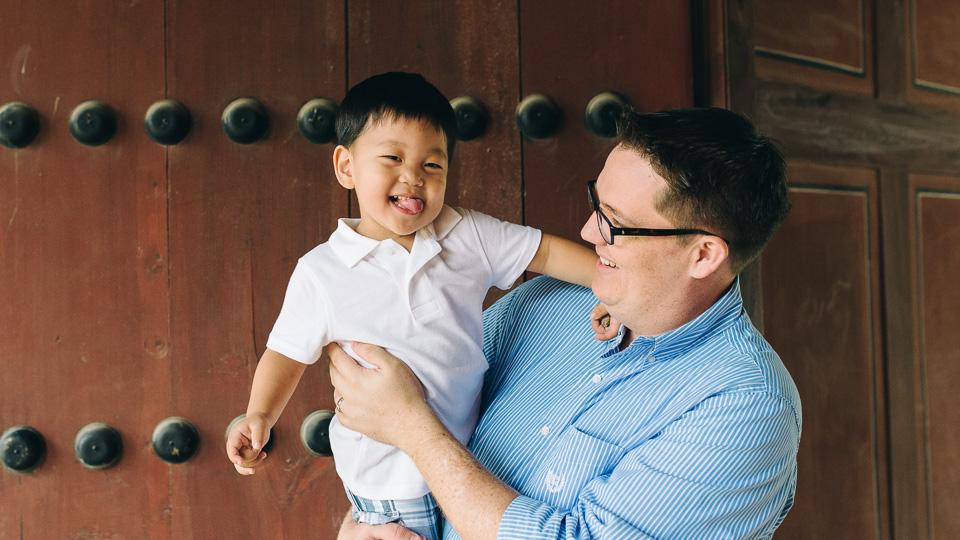 Seoul Photographer - Ezra and Dad