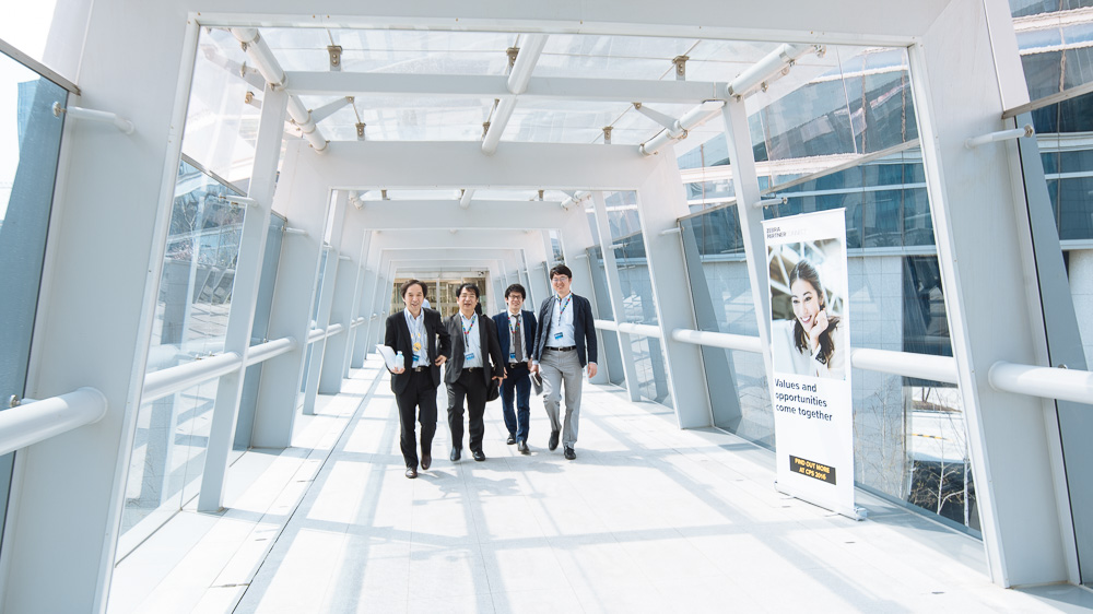 Walking to the Seminar - Corporate Event Photography