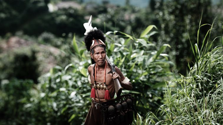 A Konyak Hunter - Nagaland, India
