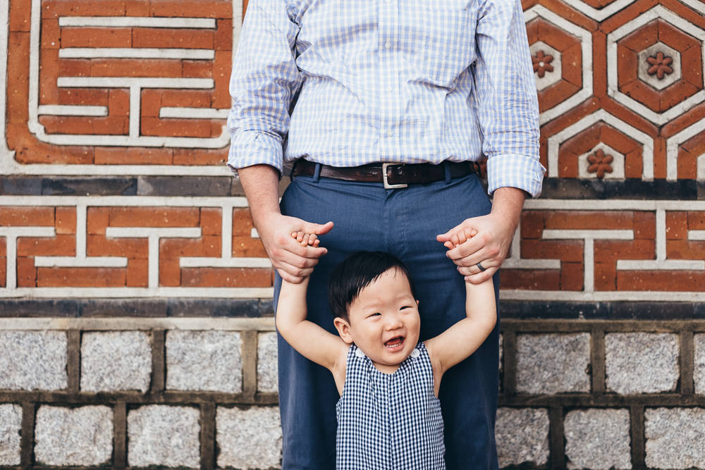 Father and Son Family Photoshoot Seoul Korea Gyeongbokgung