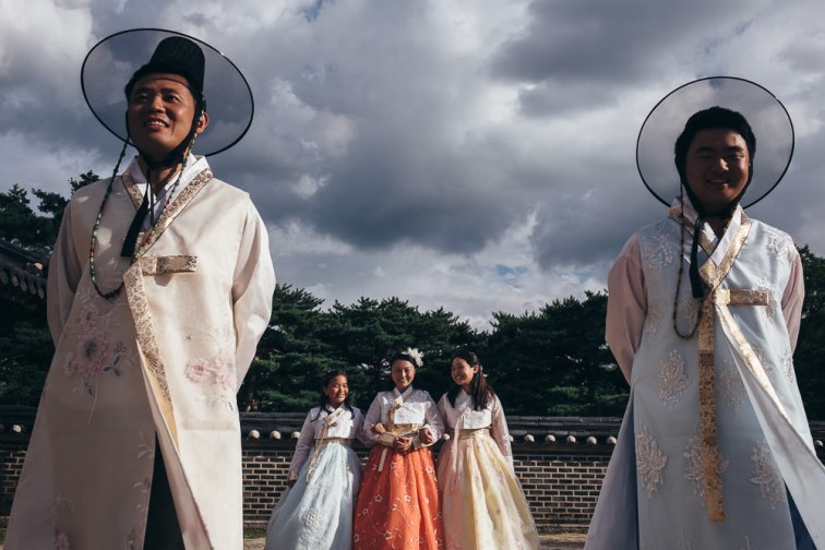 Hanbok Family Photography in Seoul - Storm Clouds