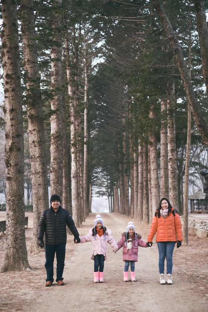 Lee Family at Nami Island, South Korea