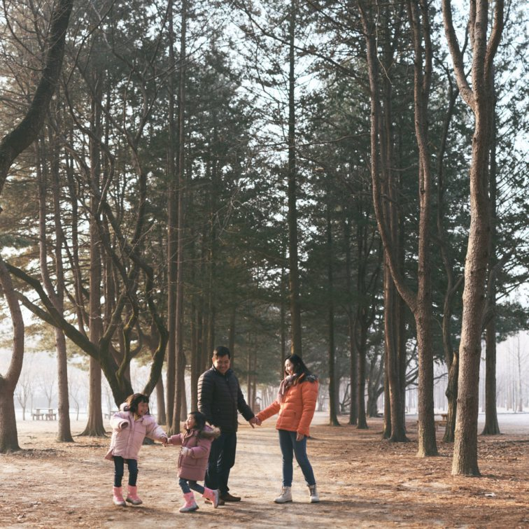 Sunrise on Nami Island - Family Photography