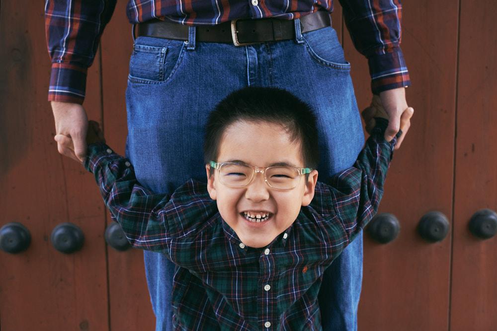 Seoul, Korea, Family Photographer - Ashcraft Family Father and Son Portrait