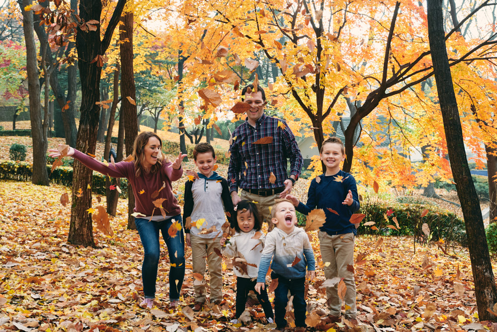 Autumn Family Portraits with the Kruger Family in Seoul