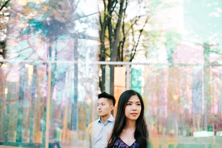 Couple Portrait with modern art in Yeouido Park