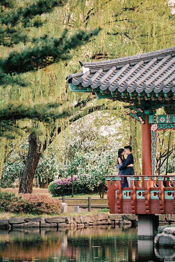 The pagoda in Yeouido Park is an oft-requested spot for photoshoots