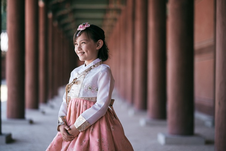 Hanbok Photoshoot Seoul - Miles Family Child Portrait