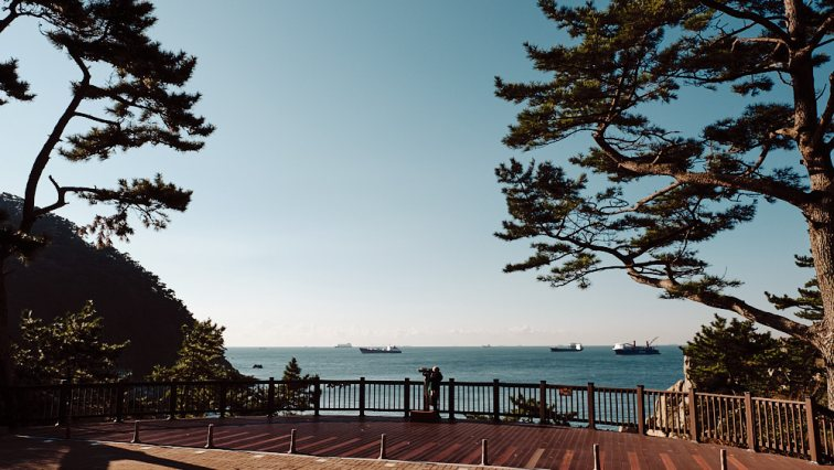 Ocean View from Taejongdae Park