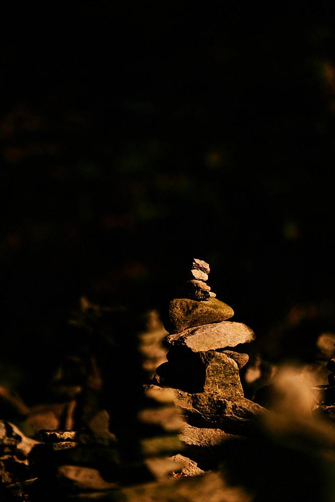 Prayer stack, Gangcheonsan National Park, Sunchang Gochujang Village for Smile Magazine, Korea Editorial Photographer