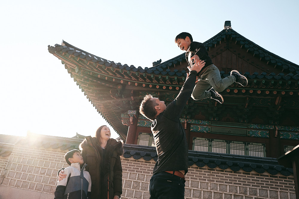Donovan family winter session at Changdeokgung