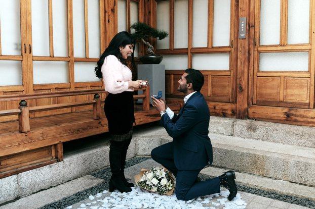 Lendyl proposes to Samantha at Digeut House Hanok in Bukchon, Seoul