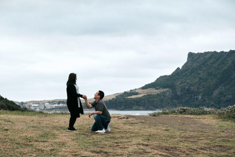 Kevin's Proposal on Jeju Island at Seongsan Ilchulbong