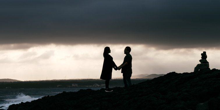 Jeju Island Couple Portraits after Proposal, Seopjigoji