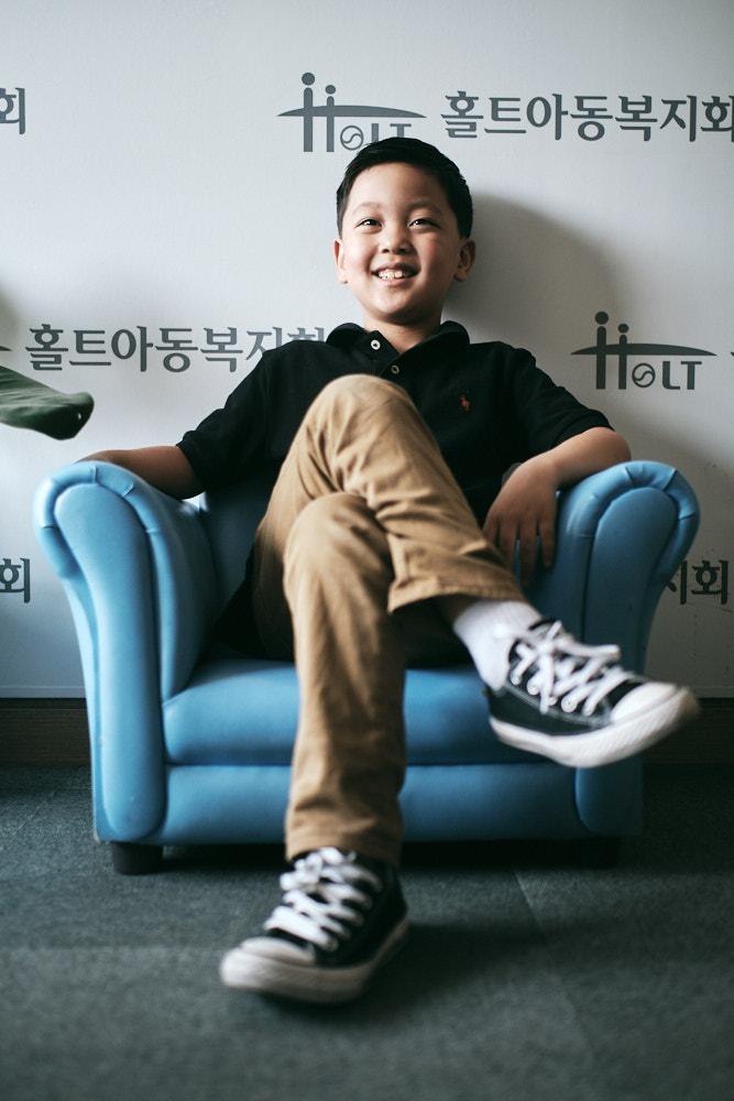 The Boss of the Blue Chair - Korea Adoption Custody Photography