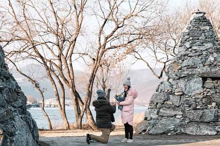 Nami Island Proposal Winter
