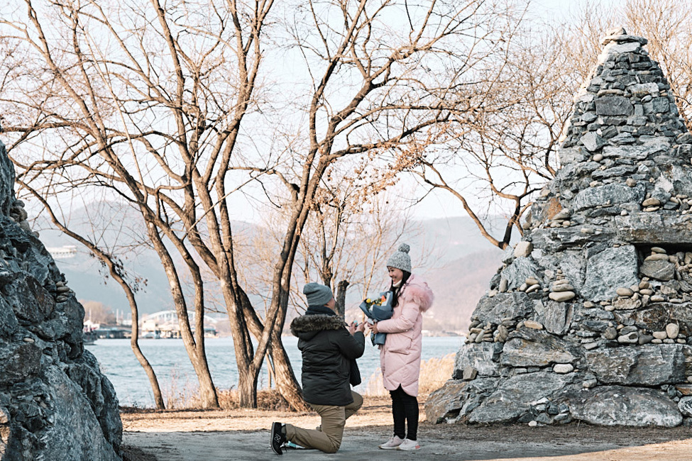 Nami Island Proposal Winter