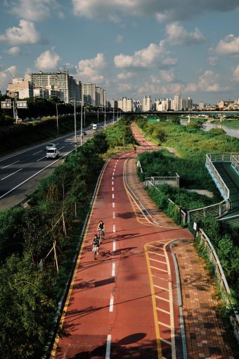 Jungnang Stream Bike Path, Seoul