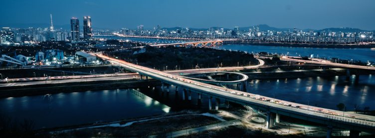 Night View from Eungbong - Han River Cycling