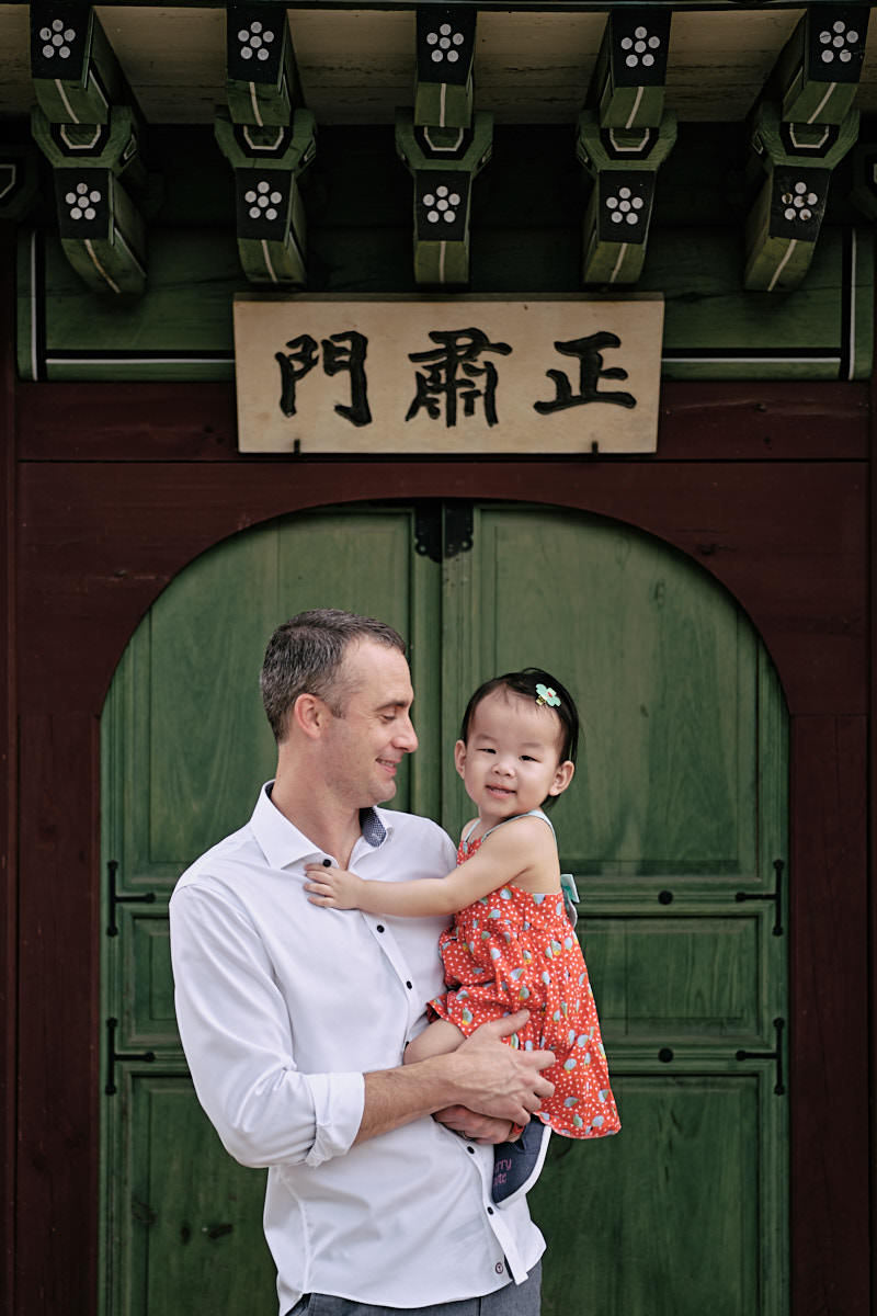 Alexander Family Post Custody Portrait - Father and Daughter - Changdeokgung