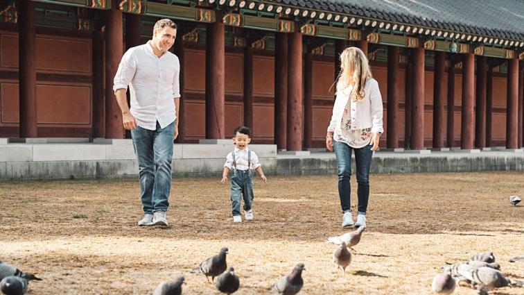 Chasing Birds - Michas Post-Custody Family Photos