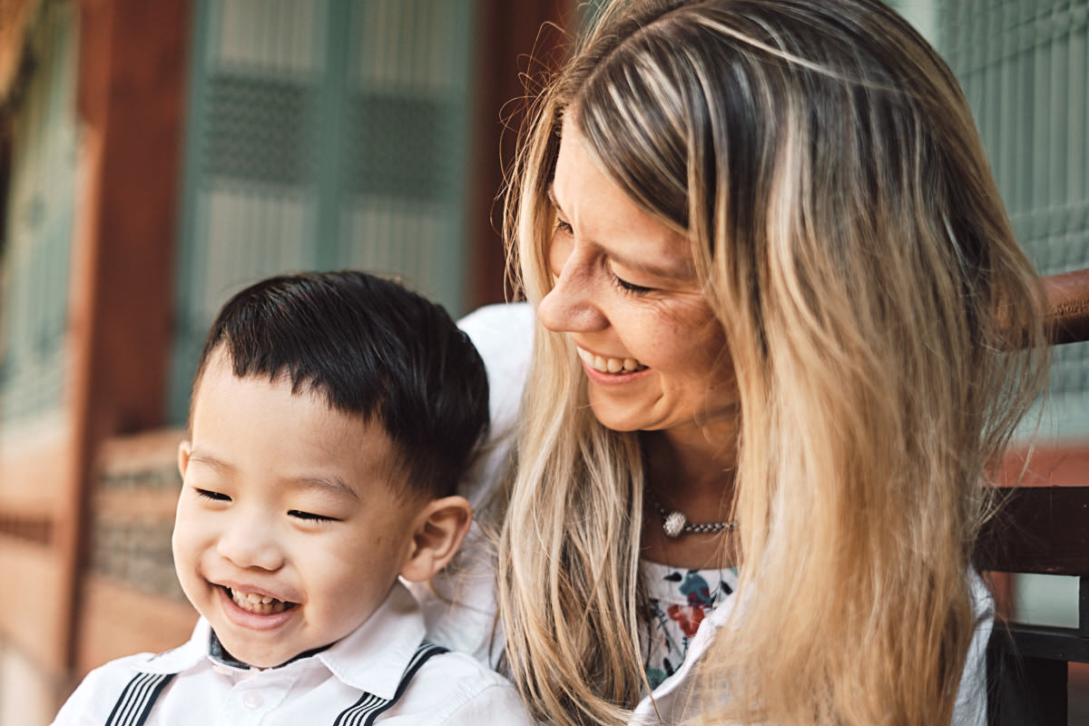 Mother and Son - Michas Post-Custody Family Photos
