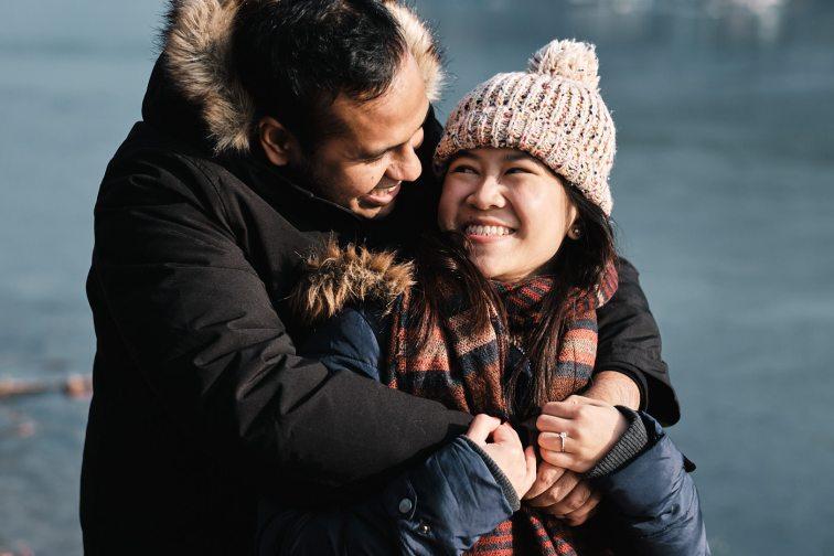 Nami Island Winter Proposal Photography