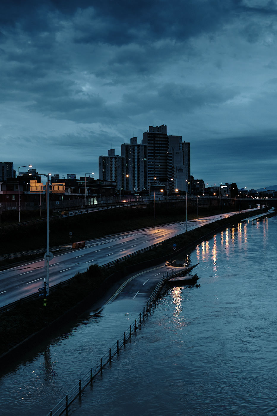 Bike Path Under Water - Seoul Floods 2020