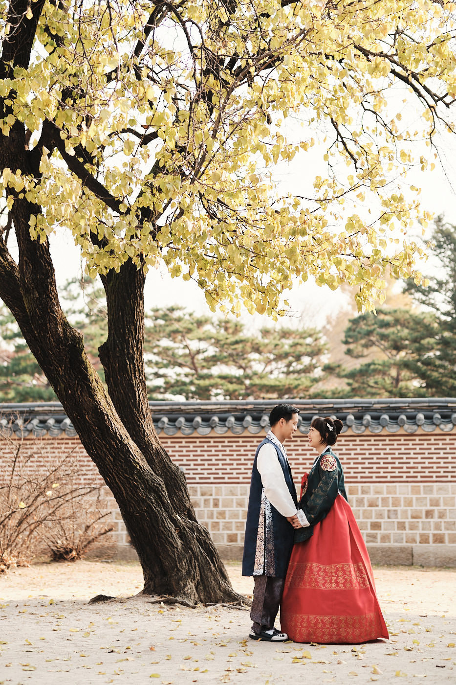 Autumn Leaves and Hanbok