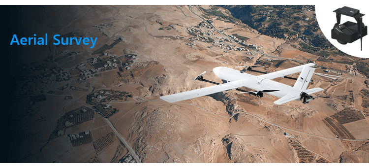fixed wing vtol drone for aerial survey