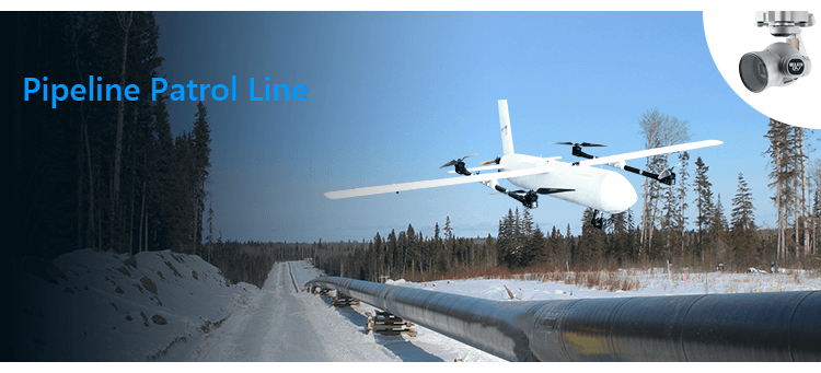 fixed-wing vtol drone for Pipeline Patrol