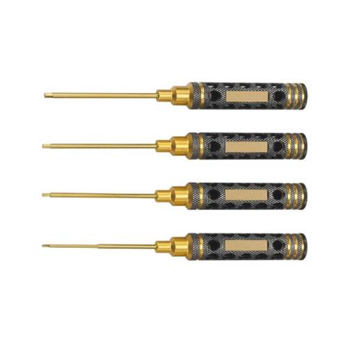 four hex metal screwdriver set