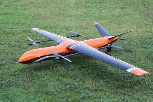 hydrogen fixed wing vtol drone