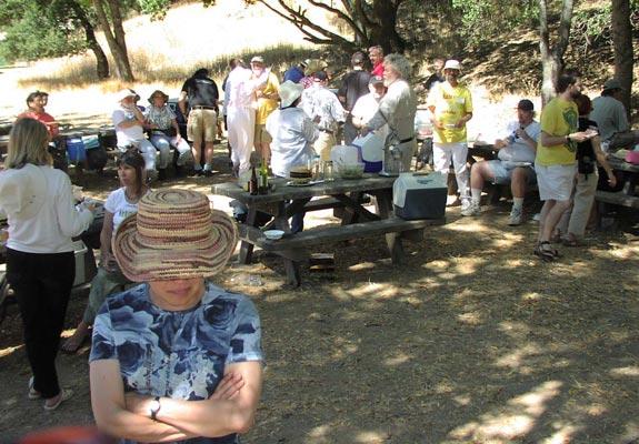 Candice (notw) hides under her hat