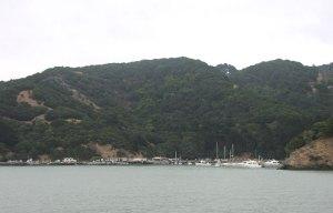 Coming into Ayala Cove