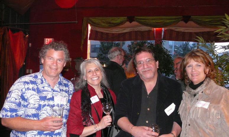 pk, at left, joins gr8flred, rebop, and Nancy for a photo op