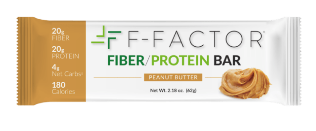 f factor high fiber peanut butter protein bar