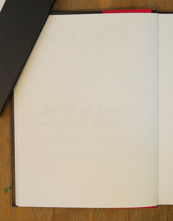 Stillman & Birn Sketchbook reverse of writing sample