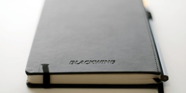 Blackwing Slate notebook branding