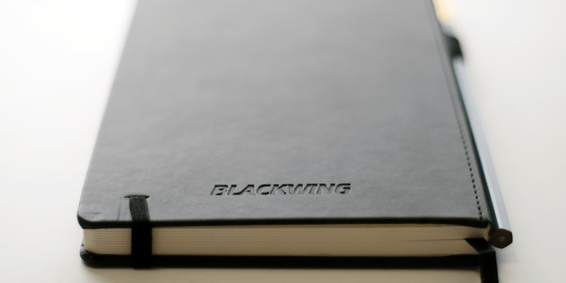 Blackwing Slate notebook branding