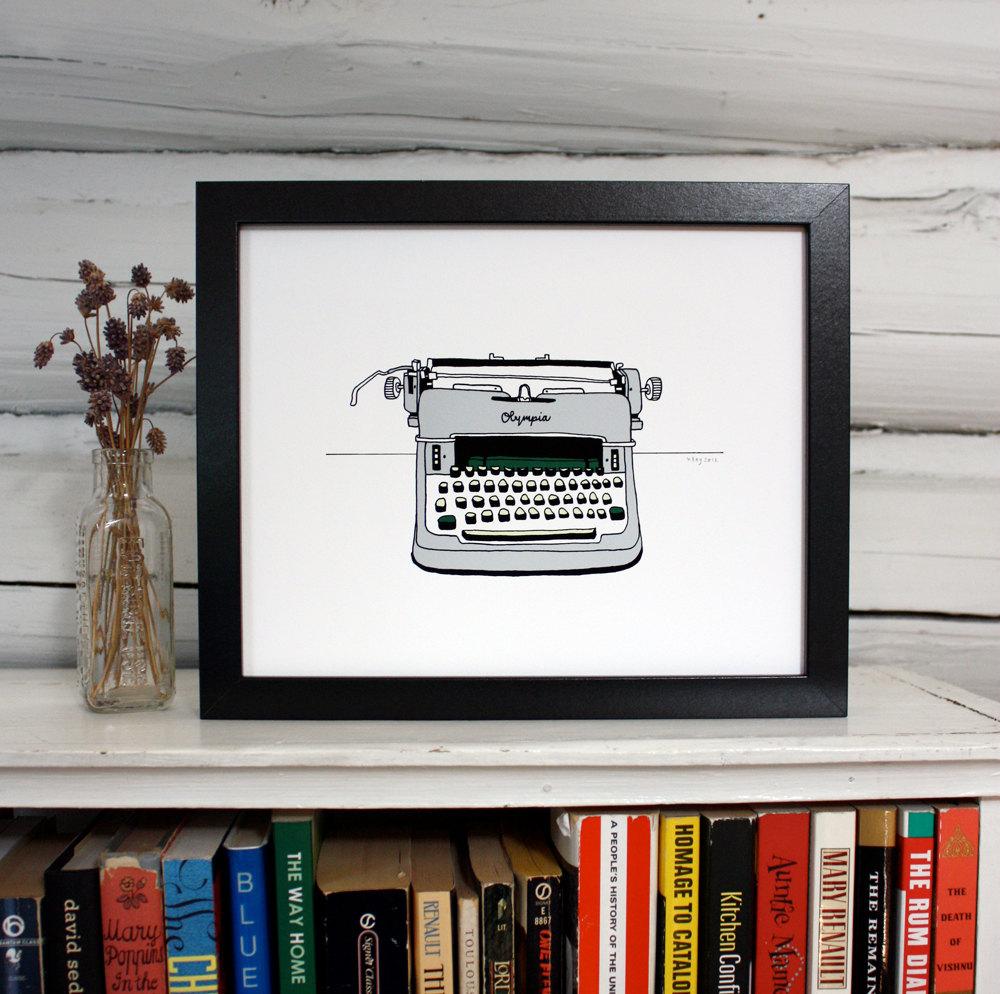 Olympia Typewriter print