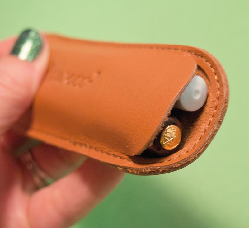 Kaweco Cognac Leather 2-Pen Holder
